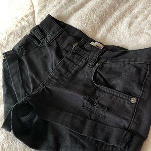 Amuse Society Boyfriend Denim Shorts